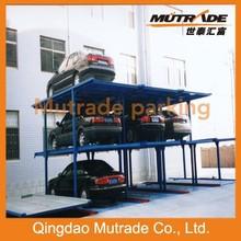 Mutrade 2/3/4 levels underground four post lift storage system