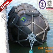 Ship and boat mooring buoy / floating air-filled bumper fender