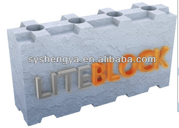 Interlocking Foam Block Molds For Concrete Blocks Acc And