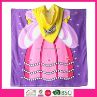 ISINOTEX: Velour Reactive Printed Baby Hooded Towel for Girl