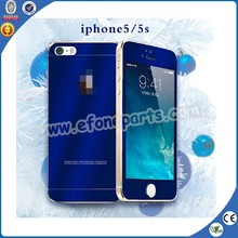 Fast delivery mirror Color screen protector, mirror tempered glass for Iphone 5s from China supplier