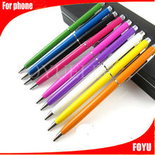 Touch pen for samartphone point and click the screen touch ball pen,well sale stylus touch retractable stylus pen