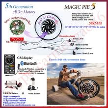 Bluetooth Programmable ! bluetooth Magic Pie5! Electric bicycle motor / E bike conversion kit front Wheel 24V/36V/48V 250w-1000W