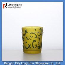 Longrun alibaba china 2015 new product 3.5oz amber short glass with pattern