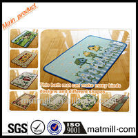 100% polyester door mat bath non slip floor mat, backing rubber, microfiber polyester door mat