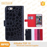BRG Fashionable Crocodile Pattern PU Leather mobile phone cover case for iPhone 6