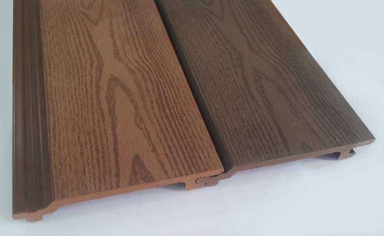 Wood Plastic Composite Wall Cladding Facade Panels Water Proof Anti Uv Exterior Timber Like Wall