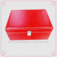 Shenzhen brand high-end leather red wine box with gift choice for packing