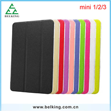 Silk Pattern Retro Leather PU Case For iPad Mini 1/2/3 7.9'inch 8.0'inch Universal Mini Tablet Case For iPad Mini