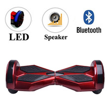 2015 cheap 8inch smart self balancing scooter remote control hover board electric with bluetooth speaker