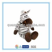 Custom sitting cute zebra stuffed animals toys for kids