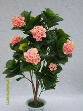 wholesale best artificial color hydrangea flower bonsai for indoor