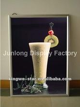 2012 hot Super slim Crystal Advertisement Acrylic LED light photo frame
