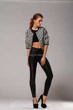 LADIES SEXY LEGGINGS TIGHTS HIGH WAISTBAND WITH ZIPPERS