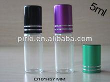 5ml roll en botella de vidrio, botella de rodillos, cosméticos rodillo en la botella