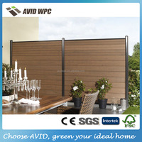 Popular designed wpc fence/ wpc wood fence/ wpc wood plastic fence