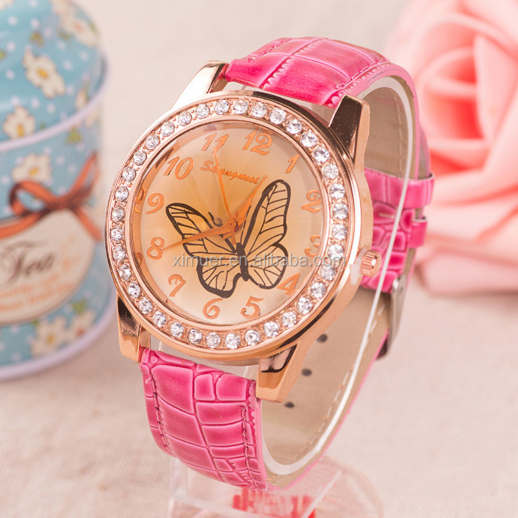 Latest Vogue Cute Crystal Butterfly Girls Watches - Buy ...