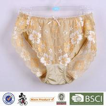 Fancy Design Elegant Young Girl High Cut Sexy Thongs Girls Underwear