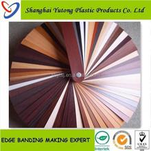 unicolor & bicolor wood grain pvc edge banding ,pvc edge banding manufacture factory