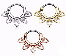 Ornamental Hearts Septum Nose Rings Clicker Hangers Studs Body Piercing Jewelry