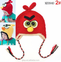 Baby kids bird crochet hat handmade children knitted hat