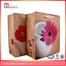 Wholesale paper gift bags printed flower paper shopping bag