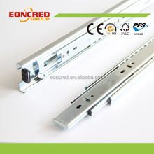 Full extension ball bearing drawer slide with soft closing, 3 fold ball bearing slid from factory