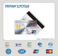 2015 Feitian wangu Professional plastic printing magnetic stripe bank Card