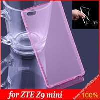 Super Slim TPU Crystal Transparent mobile cell phone Case for ZTE Nubia Z9mini