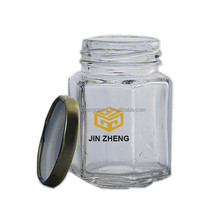 Clear Hexagonal Wedding Favors Honey Jars Factory