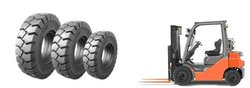 3 ply rubber/thick steel solid tyre 27x10-12