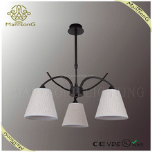 2015 wholesale new products modern iron fabric chandelier light