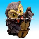 Venda quente bonito coruja animais decoração polyresin estatueta