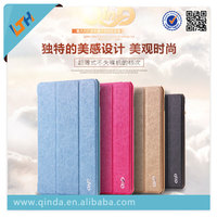 2015 Newest luxury super thin fold Leather Case Cover For Ipad mini 4 leather Case with stand function