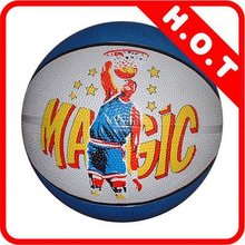 Popular new products standard size 7 shiny rubber basketball
