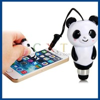 Hot selling lovely PVC cartoon mini touch pen for smart phone