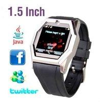 "New Design 1.5"" Unlocked Quadband Watch Phone(Touch screen,Camera, Bluetooth)(WP-TW520)"