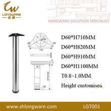 High quality tapered stainless steel leg