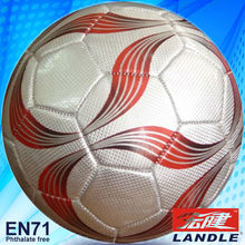 Official size 5 PVC leather machine stitched promotion football soccer ball
