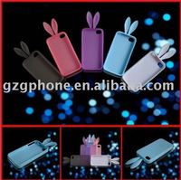 mobile phone silicon cover rabbit case for Iphone 4G