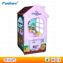 Funshare coin operated prize toy candy crane claw machine/key master kids crane games classical arcade game for sale