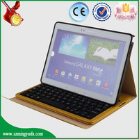Wholesale Flip PU leather case with bluetooth keyboard for samsung P600