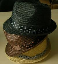 Custom 100% Madagascar raffia straw hats for men