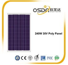240W 30V poly solar panel with quota in EU