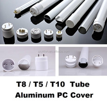 T8/PC cover and /T5 / LED Aluminum profile housing /T10/ tube lighting /LED lamp fitting/aluminum tube/pc cover