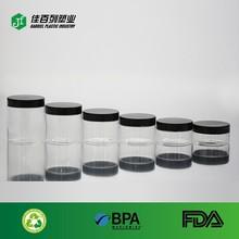 black cap 300ml empty clear wholesaler plastic pet bottle