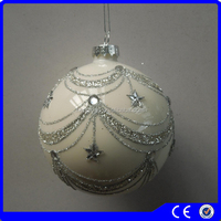 wholesale christmas balls gold powder diamond handmade christmas ornaments wedding decoration
