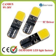 Guangzhou auto parts factory IC Driver stable voltage t10 led auto W5W 194 168 width light license plate light