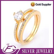 La plata de ley del diseño 925 saudita circón cúbico plateó la verdadera joyería de oro 24k