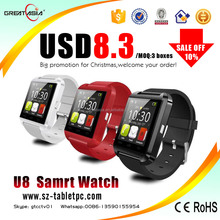 Colors Touch Screen android U8 smart watch android Bluetooth smart watch phone